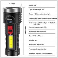 Flashlight USB Rechargeable L-822